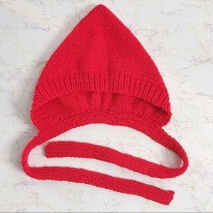 Vtg Knit Bonnet